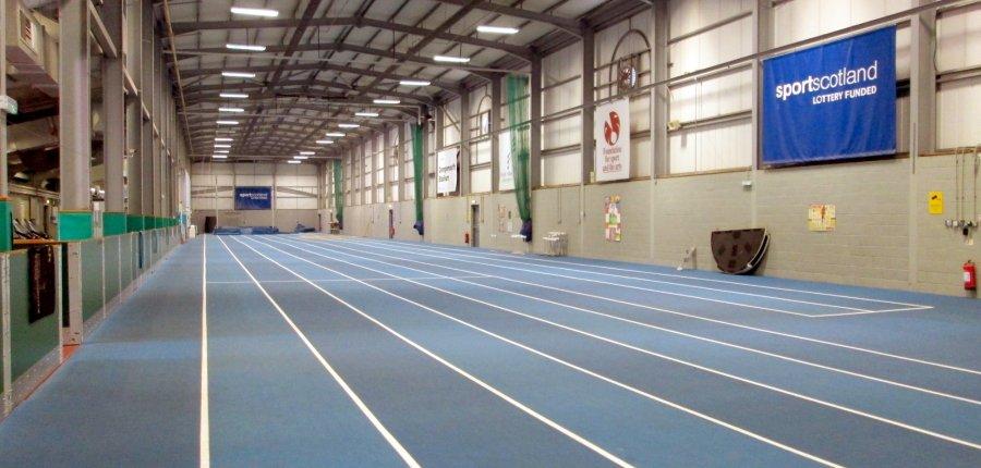 indoor running track grangemouth stadium