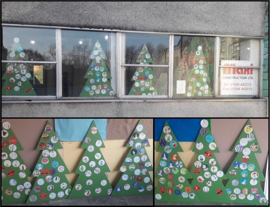 craigbank ps pupil christmas trees