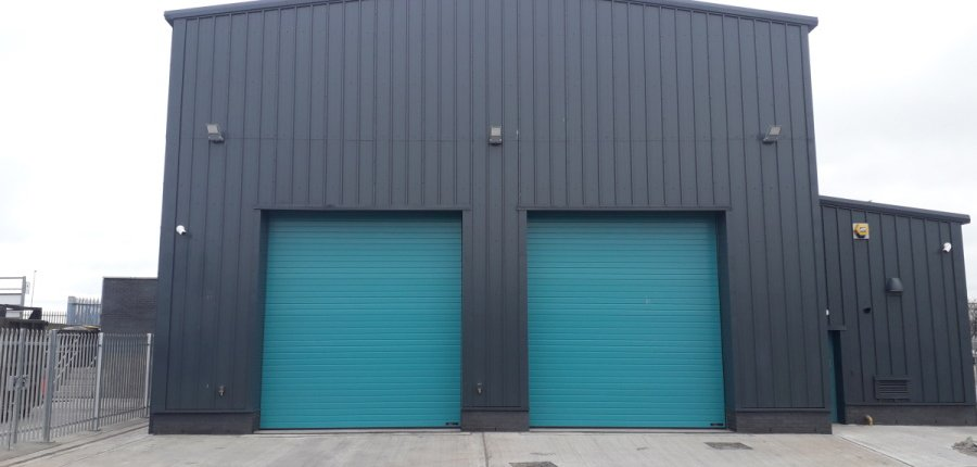 maintenance shed front external view